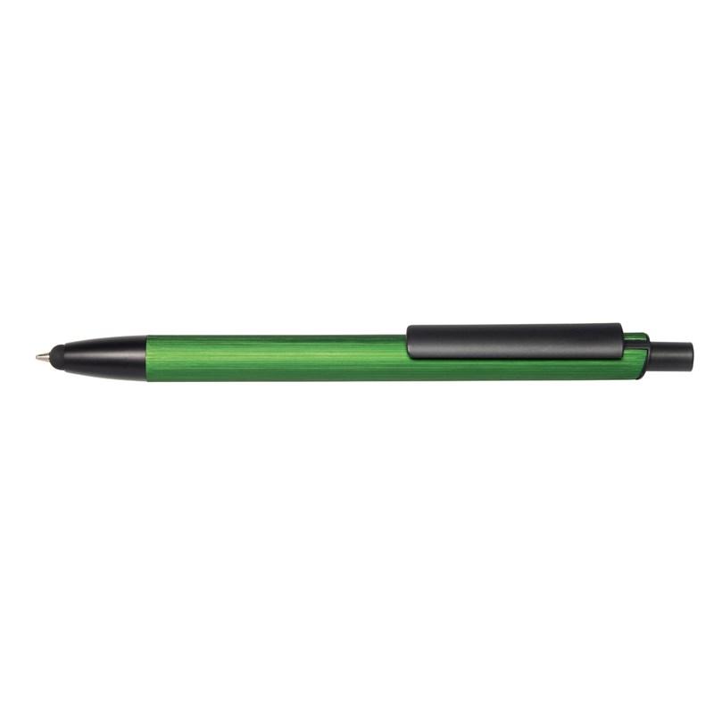 GENEVA golyóstoll (érintőképernyős véggel), zöld-fekete