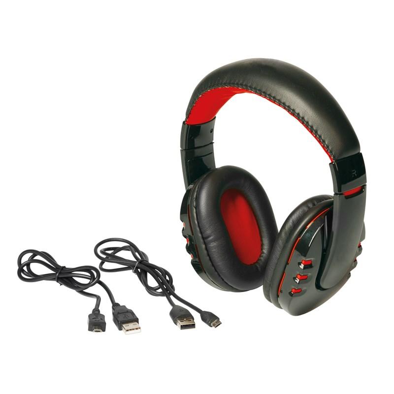 RACER bluetooth fejhallgató (mikrofon + beépített akku), fekete-vörös